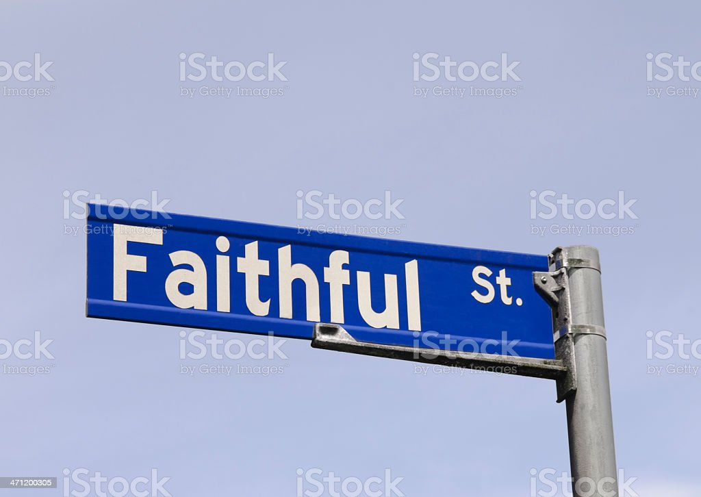 Religion Street / Road Sign royalty-free stock photo