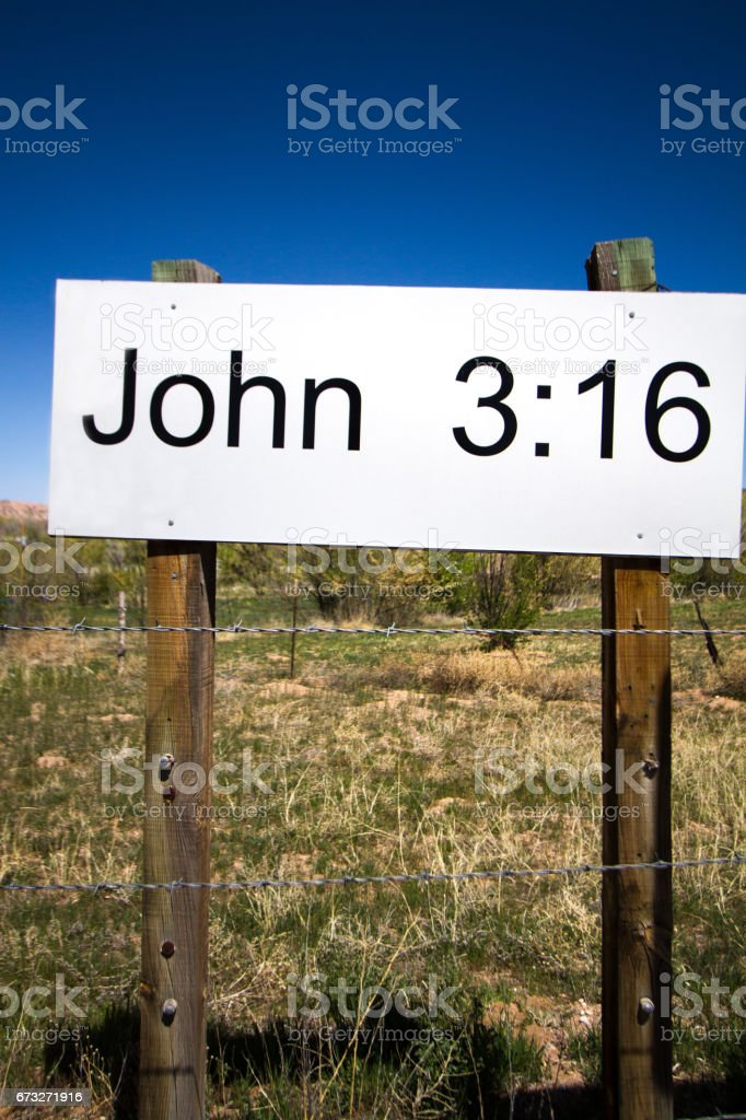 Sign with Bible Verse near Santa Fe, NM