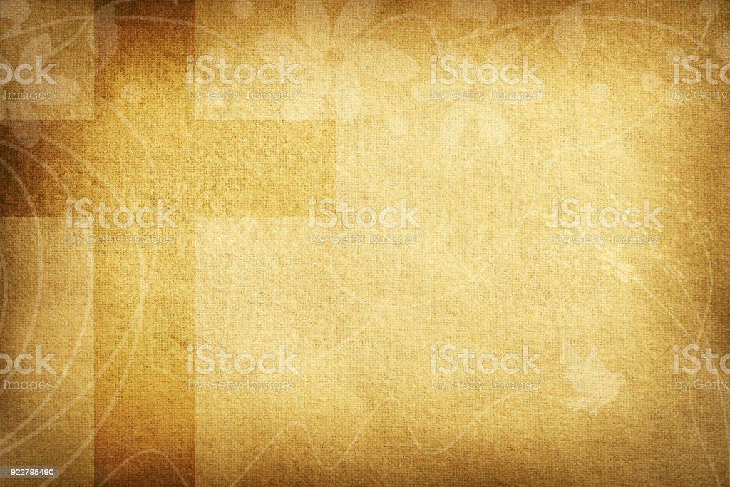 Tarjeta religiosa con flores de tela y gran cruz - foto de stock