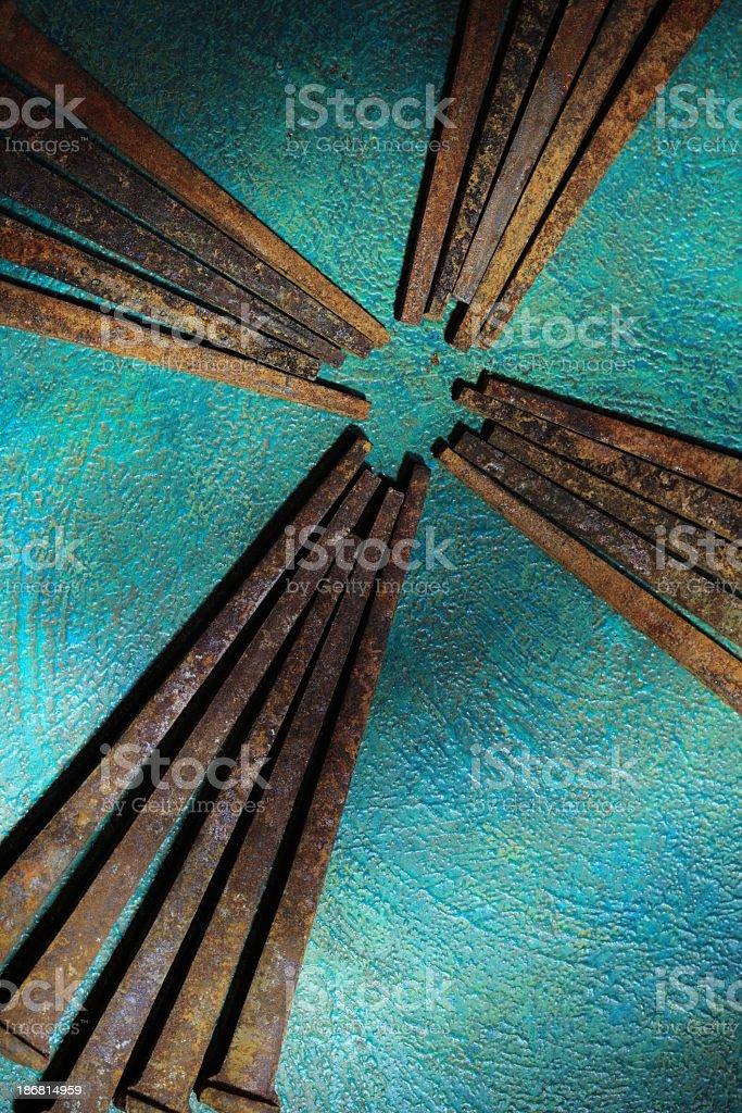 Religious: Cross of Rusty Nails royalty-free stock photo