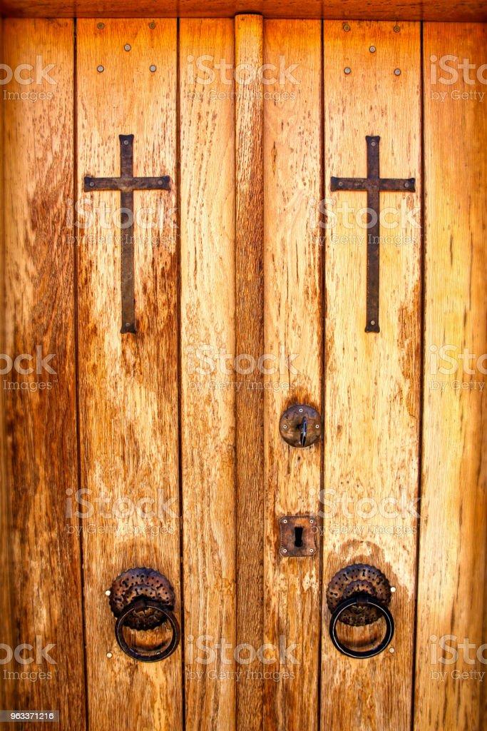Religious Door stock photo