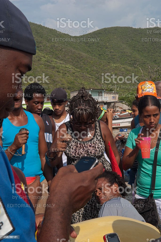 Religious Fiesta in South America royalty-free stock photo