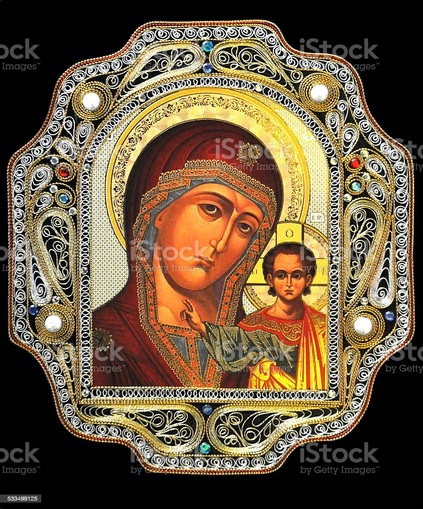 Religious icon stock photo