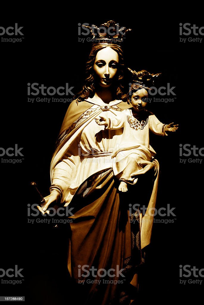 Religious Icons Our Lady Help Of Christians Stock Photo