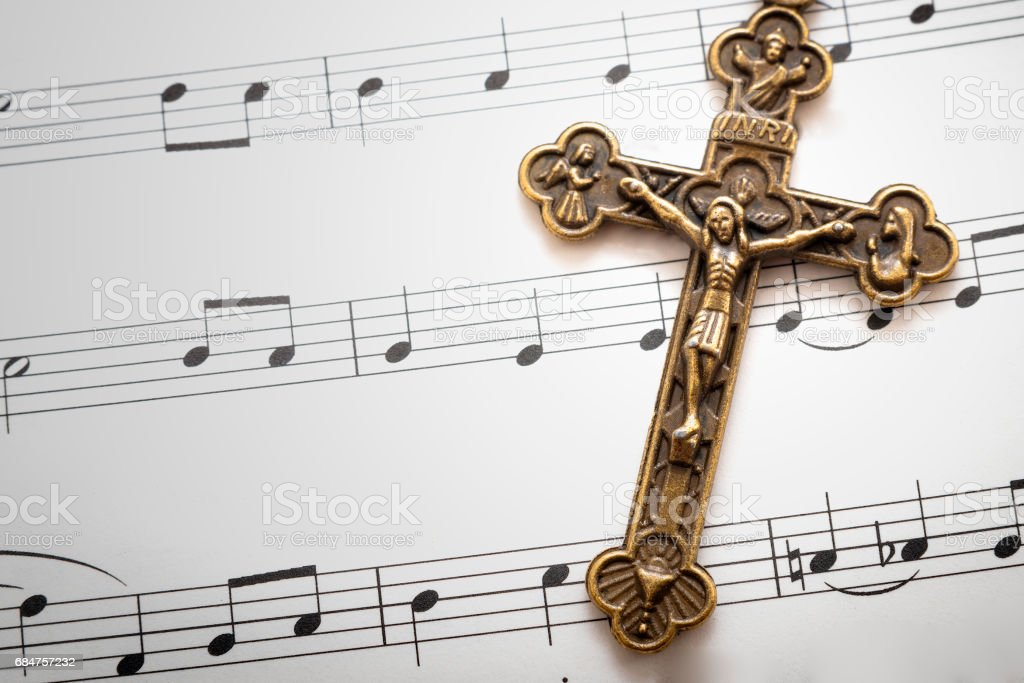 Religious music and carols concept stock photo