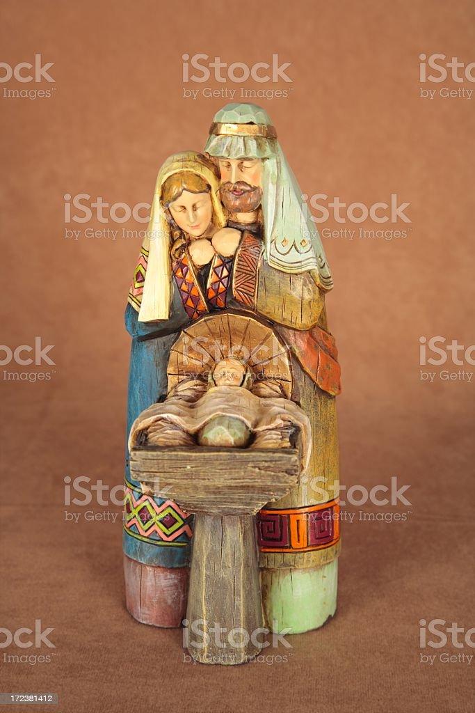 Religious: Nativity Trio scene royalty-free stock photo