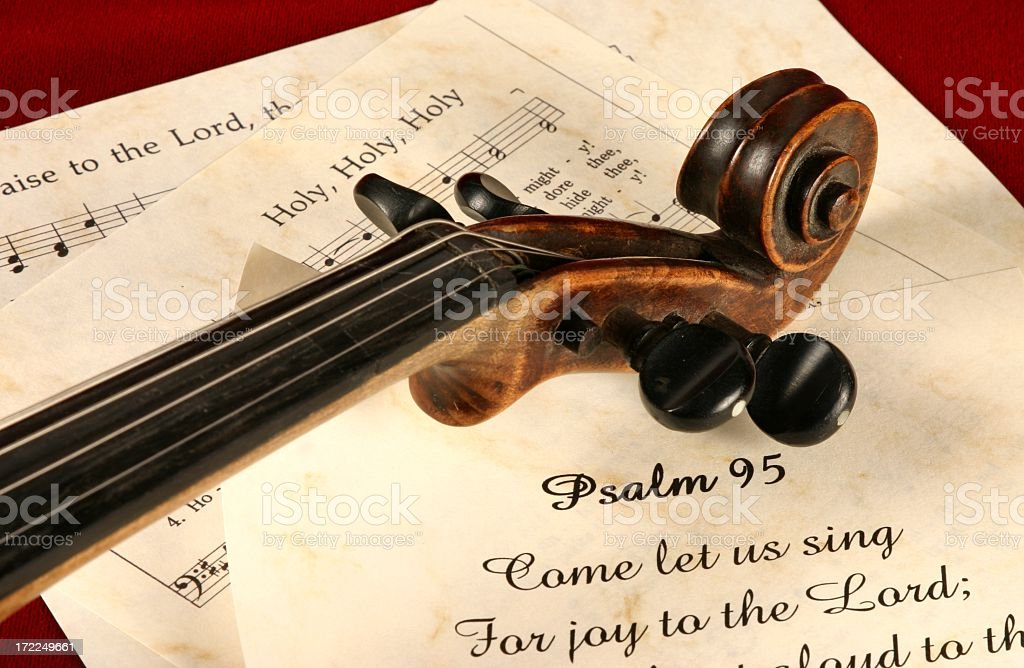 Religiöse Psaltery 95 Schriften Eingemeißelt Serie Mit Violine Und ...