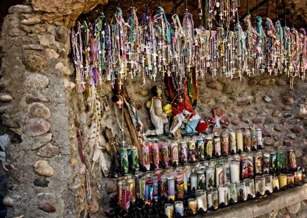 Religious Shrine at Santuario de Chimayo stock photo