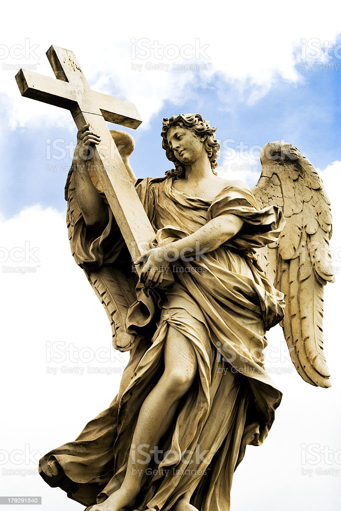 Religious statue from Rome royalty-free stock photo
