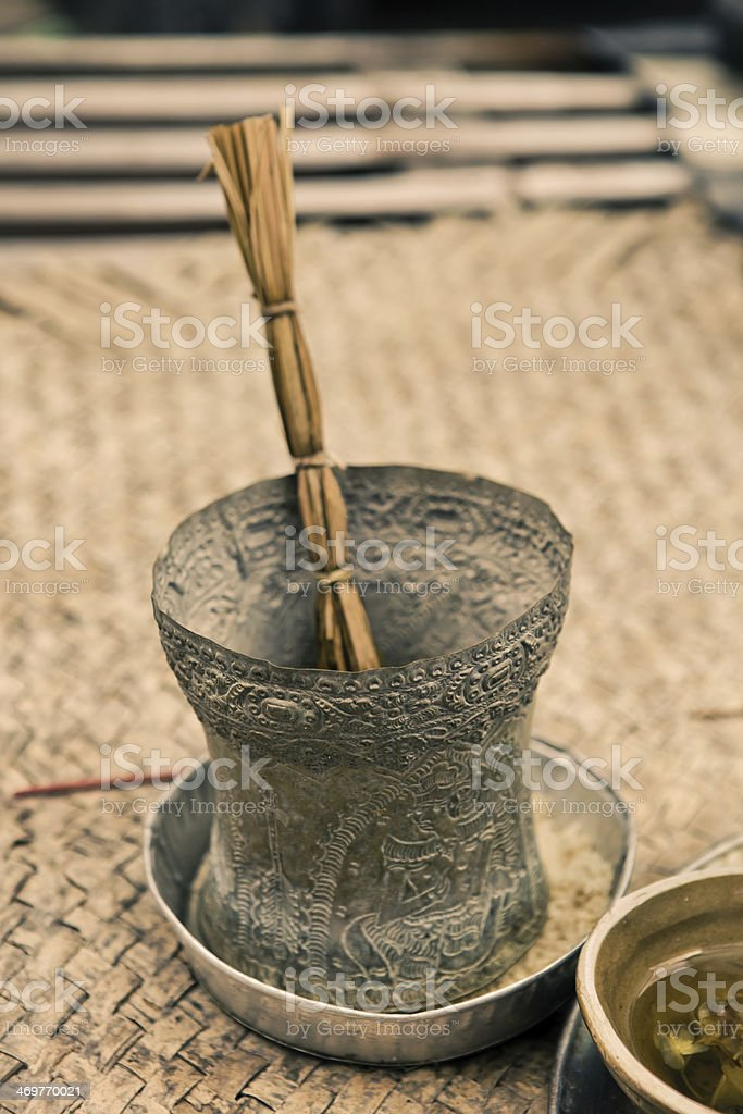 Religious symbol in Bali royalty-free stock photo