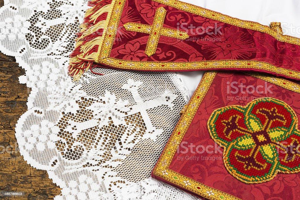 Religious textiles stock photo