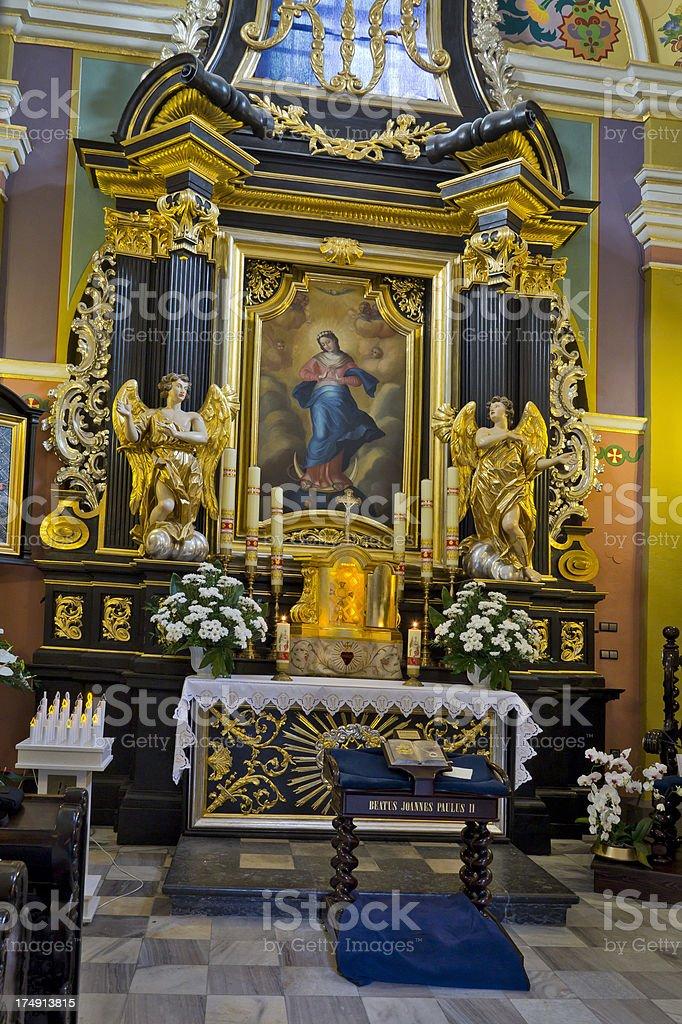 Reliquary of Blessed John Paul II stock photo