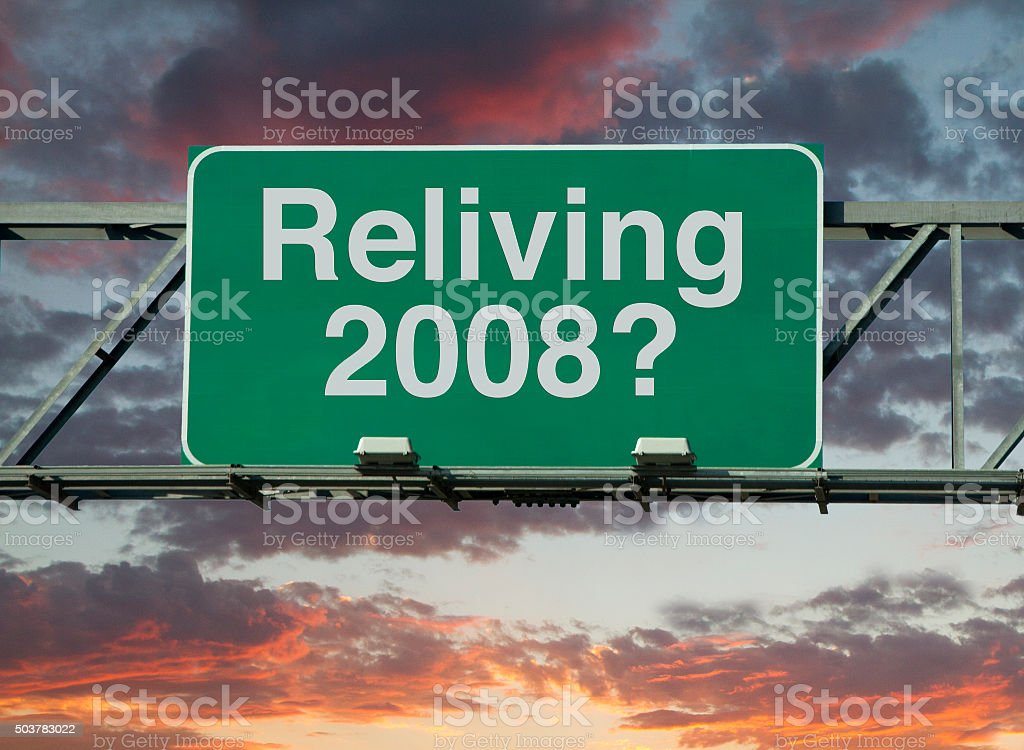 Reliving 2008 stock photo