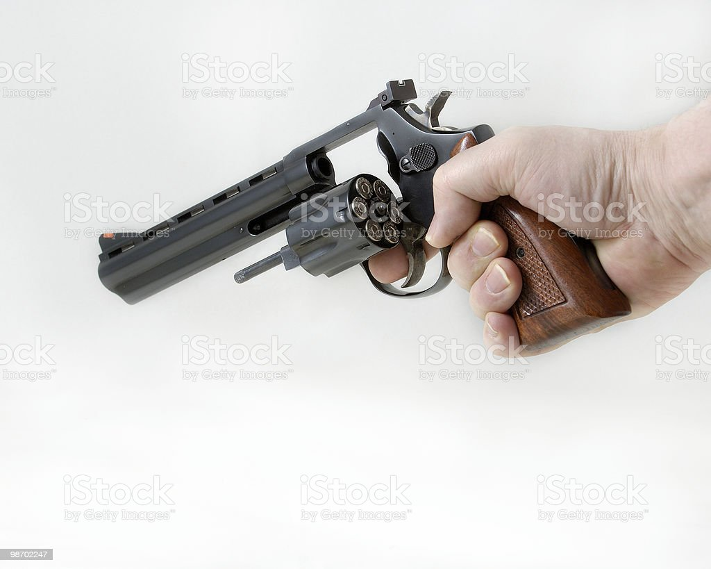 Reloading the .357 Magnum royalty-free stock photo