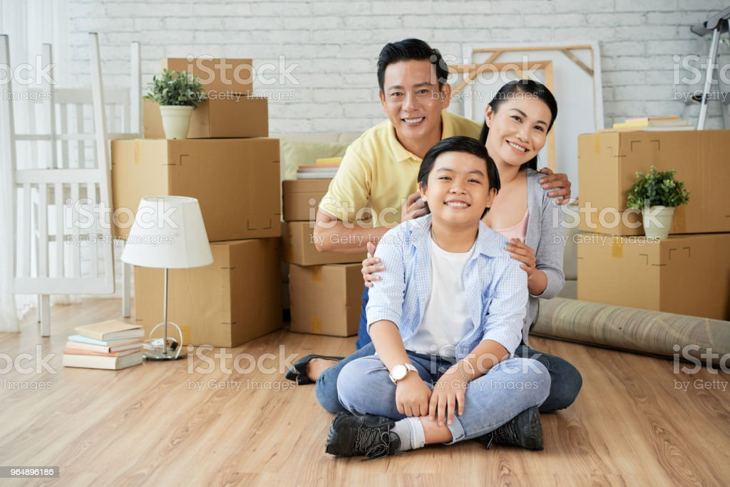 Relocation in New Apartment royalty-free stock photo