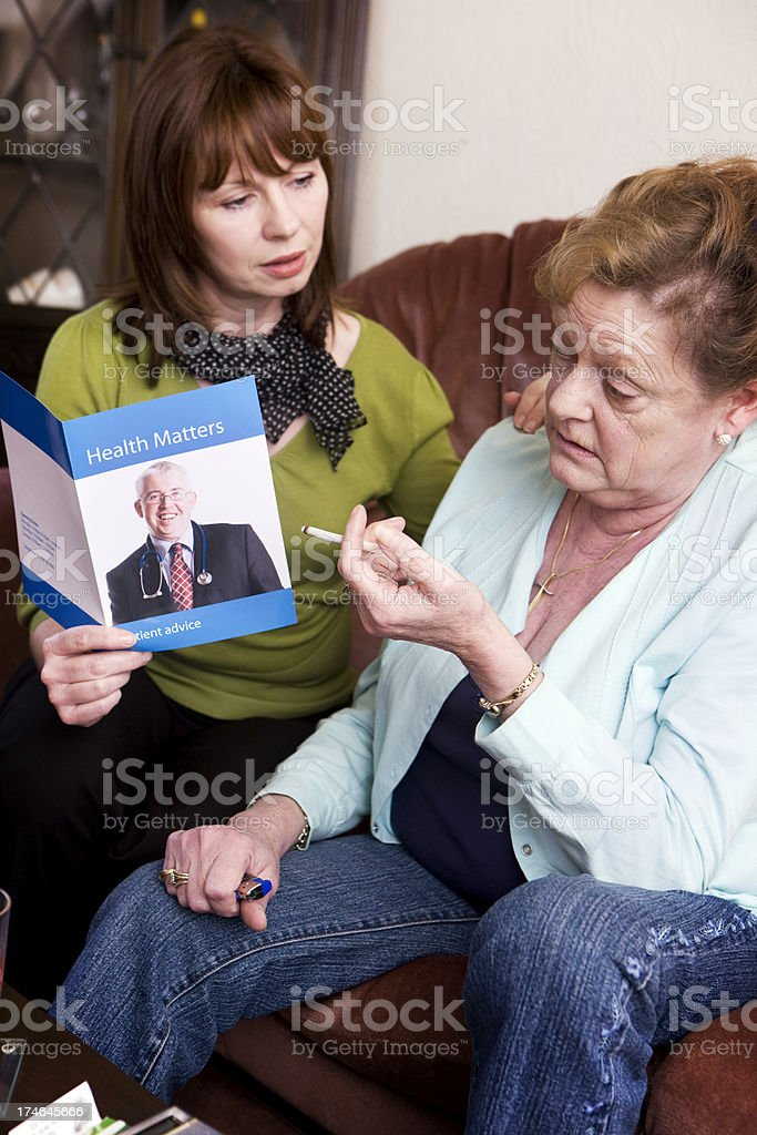 reluctant to quit smoking royalty-free stock photo