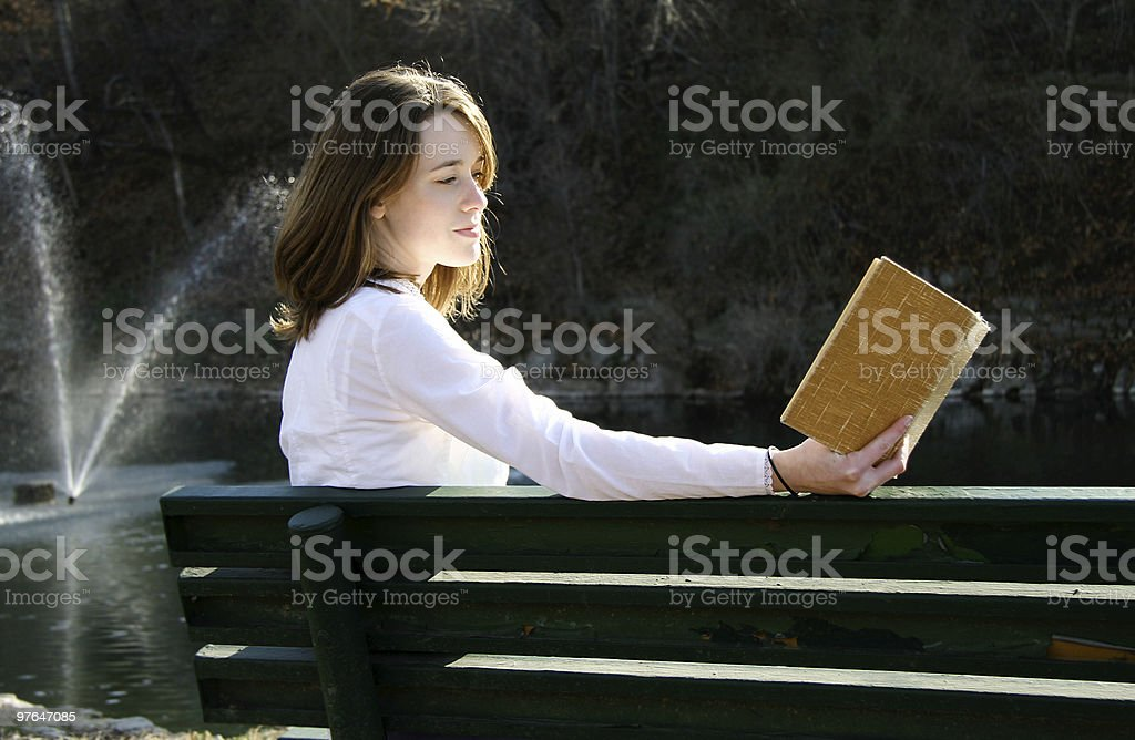 relxed reading royalty-free stock photo