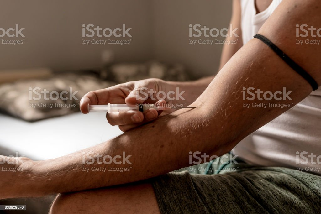 Relying on illegal substances will get you into trouble stock photo