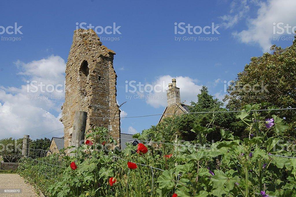 Remains of a Benedictine Abbey, Abbotsbury, Dorset, England stock photo