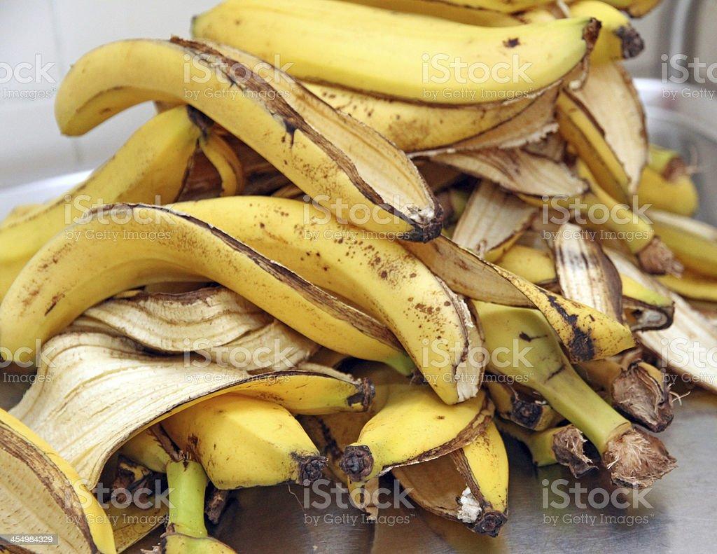 Überreste von banana gelbe Schale – Foto