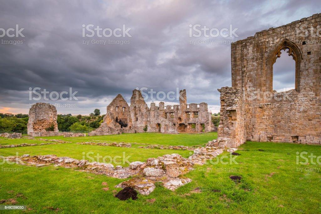 Remains of Egglestone Abbey stock photo