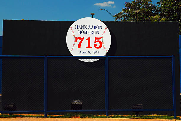remains of the altanta fulton county stadium - hank aaron fotografías e imágenes de stock