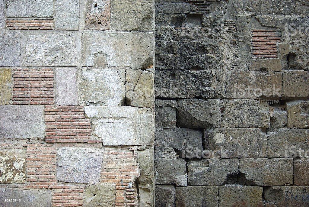 Pozostałości starożytnej rzymskiej ściany zbiór zdjęć royalty-free