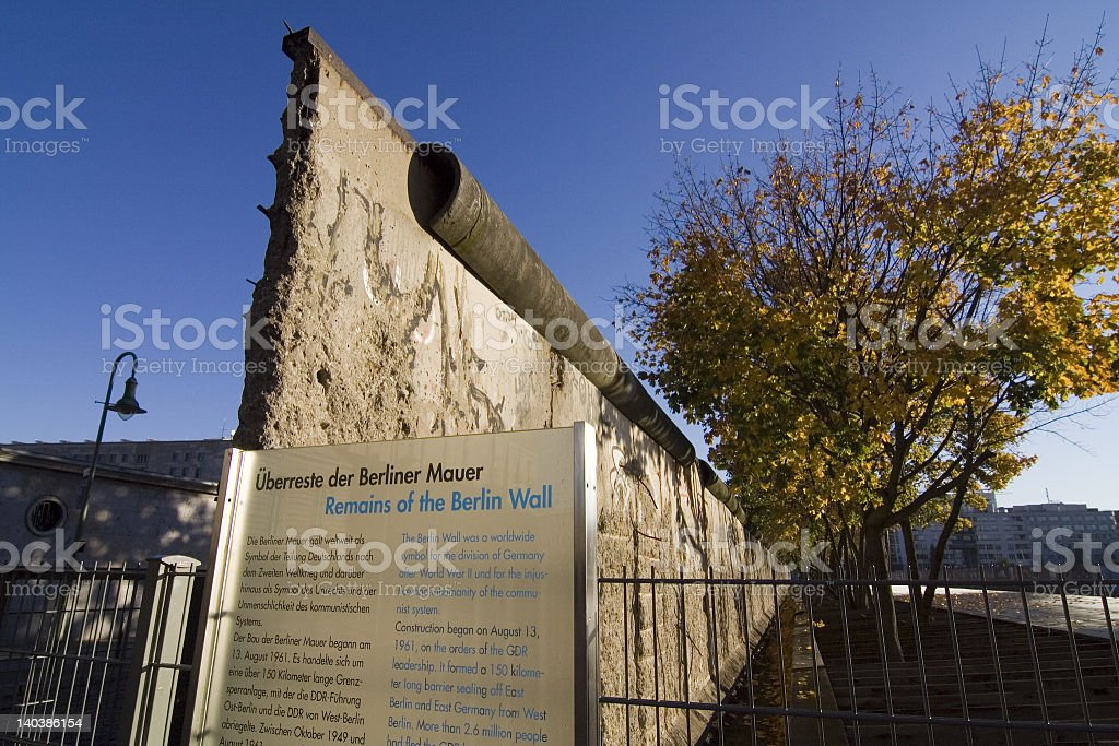 Remains of the Berlin Wall stock photo
