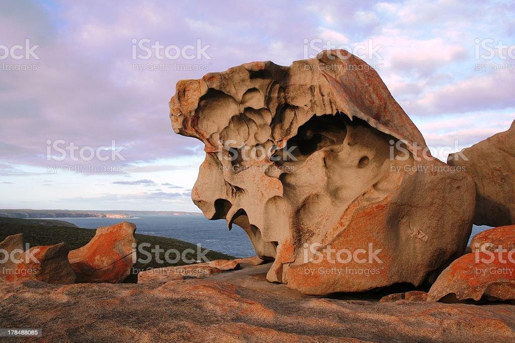 Remarkable Rocks, Kangaroo Island, South Australia stock photo
