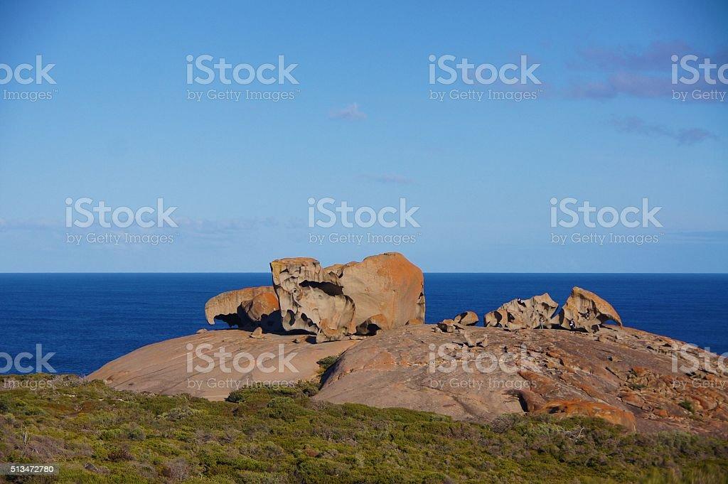 Remarkable Rocks, landmarks of Kangaroo Island, Adelaide, Australia stock photo