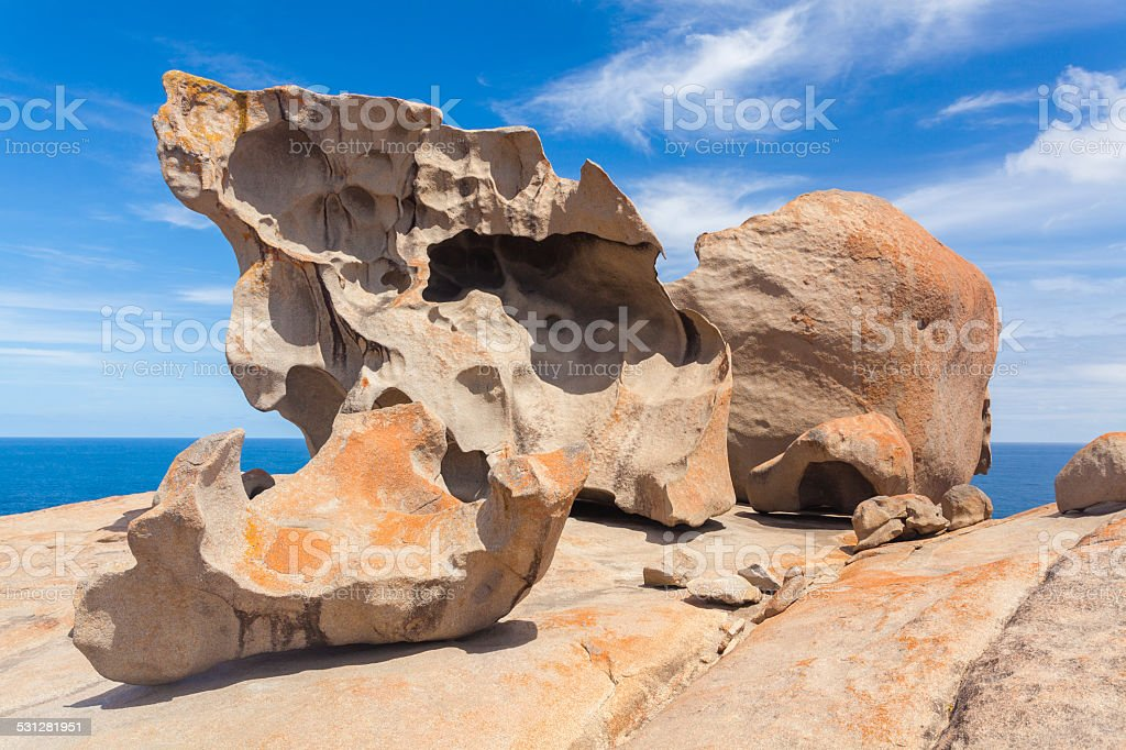 Remarkable Rocks on Kangaroo Island, South Australia stock photo
