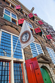 Amsterdam, Netherlands - November 13, 2014: Rembrandt House Museum in Amsterdam. Rembrandt van Rijn is generally considered one of the greatest painters and printmakers in European art
