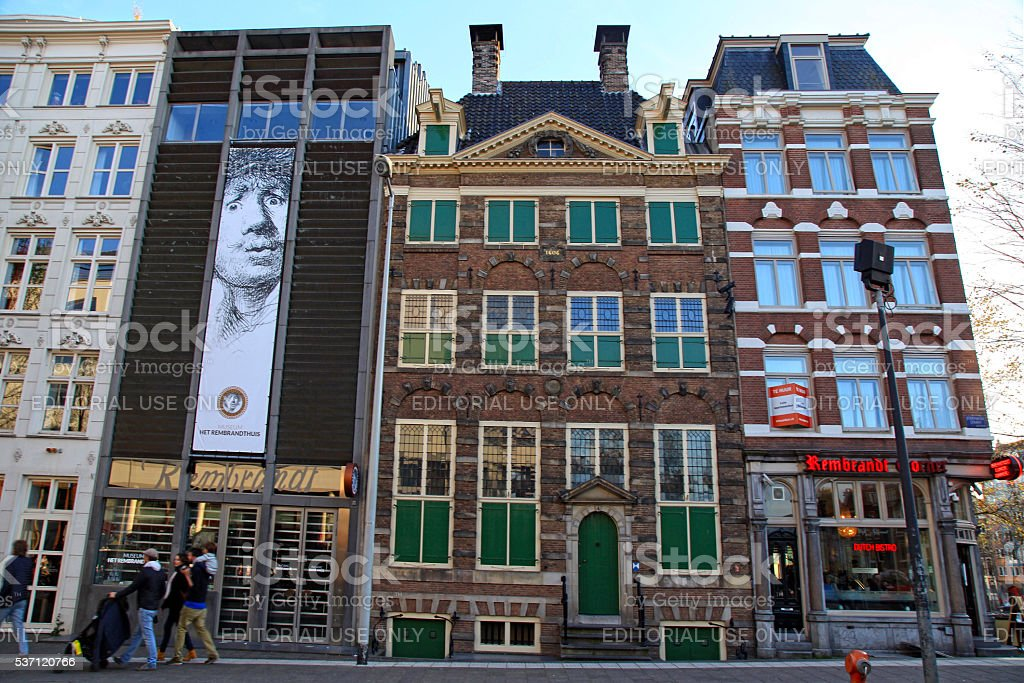 Rembrandt House Museum in Amsterdam, Netherlands. stock photo