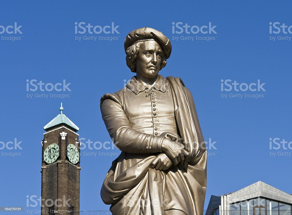 Rembrandt Sculpture of Rembrandt Adult Stock Photo
