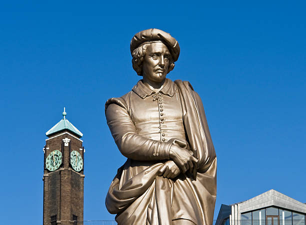 Rembrandt Sculpture of Rembrandt rijksmuseum stock pictures, royalty-free photos & images