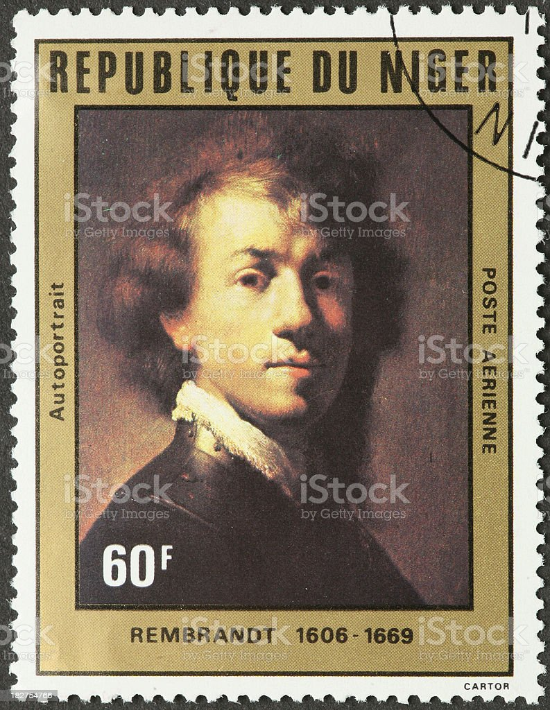Rembrandt self portrait stock photo