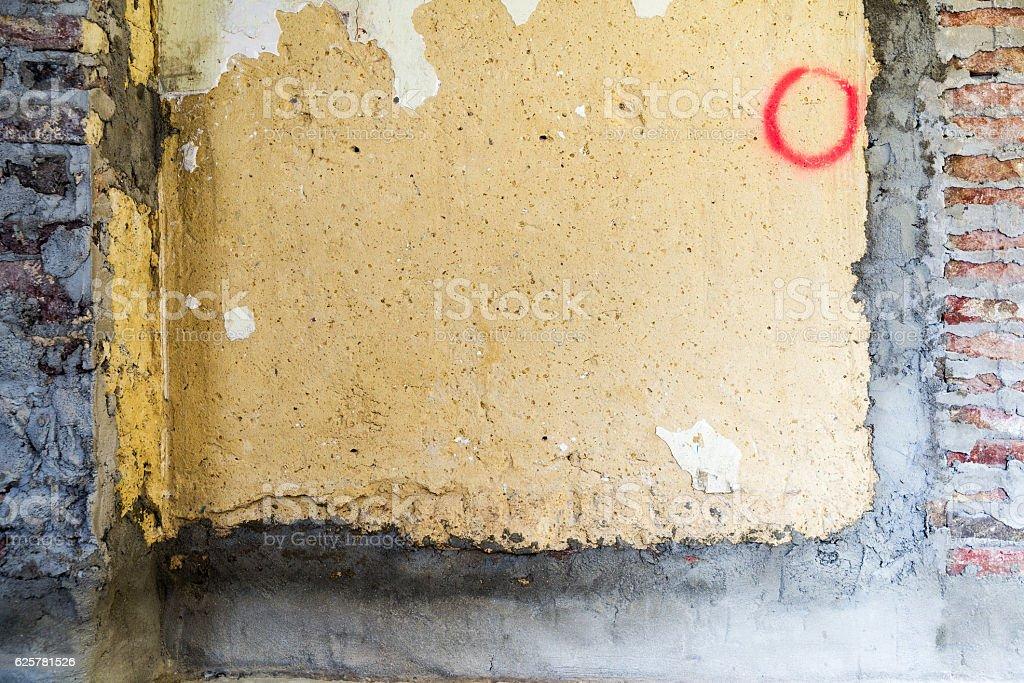 Remediation of brick walls stock photo