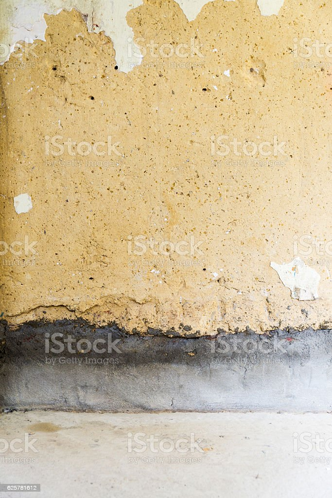 Remediation of concrete wall stock photo