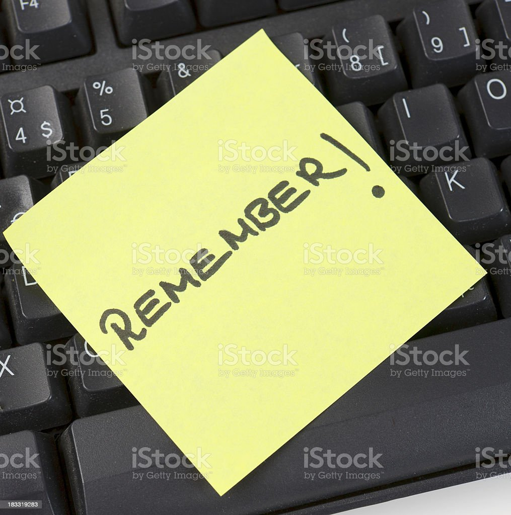 Remember note royalty-free stock photo