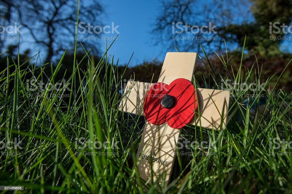 Remember the Fallen Heroes - Poppy Day stock photo