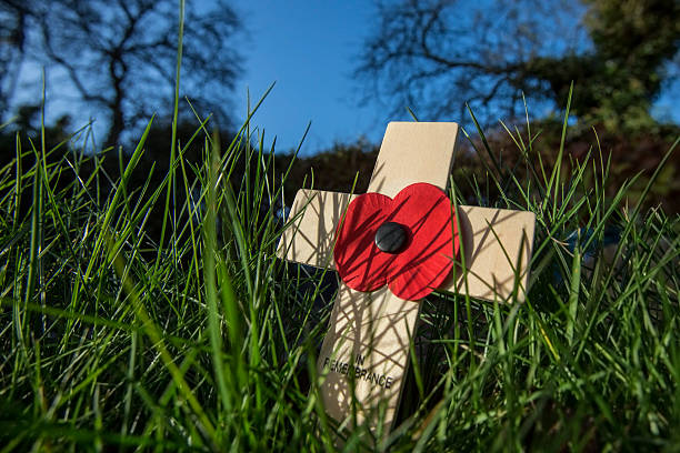Remember the Fallen Heroes - Poppy Day Remembrance - a memorial day observed in the Commonwealth of Nations member states since the end of the First World War to remember the members of their armed forces who have died in battle. The 11th hour of the 11th day of the 11th month. somme stock pictures, royalty-free photos & images