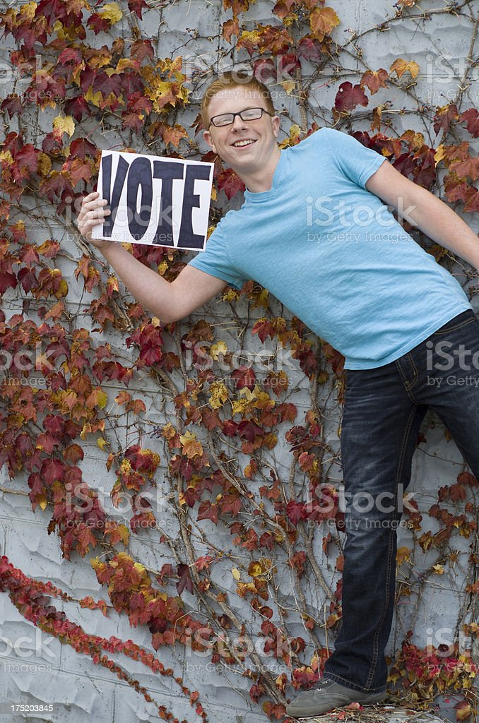 Remember to vote teens royalty-free stock photo