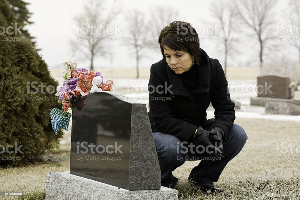 Remembering a loved one royalty-free stock photo