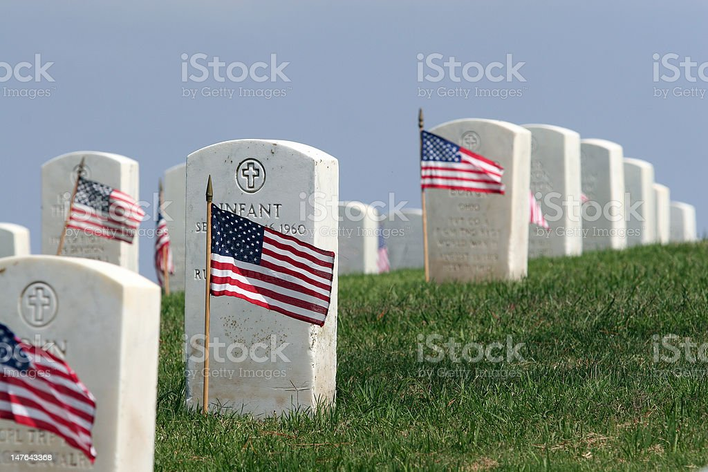 Remembering America's Fallen Heroes royalty-free stock photo