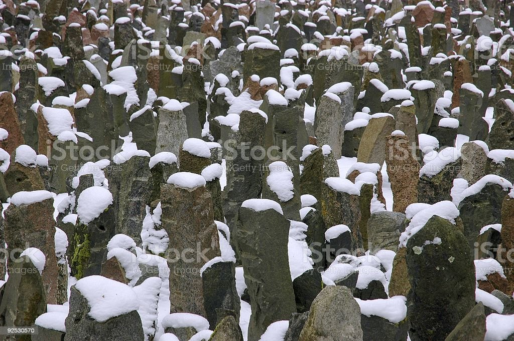 Remembering Cold Days of War stock photo