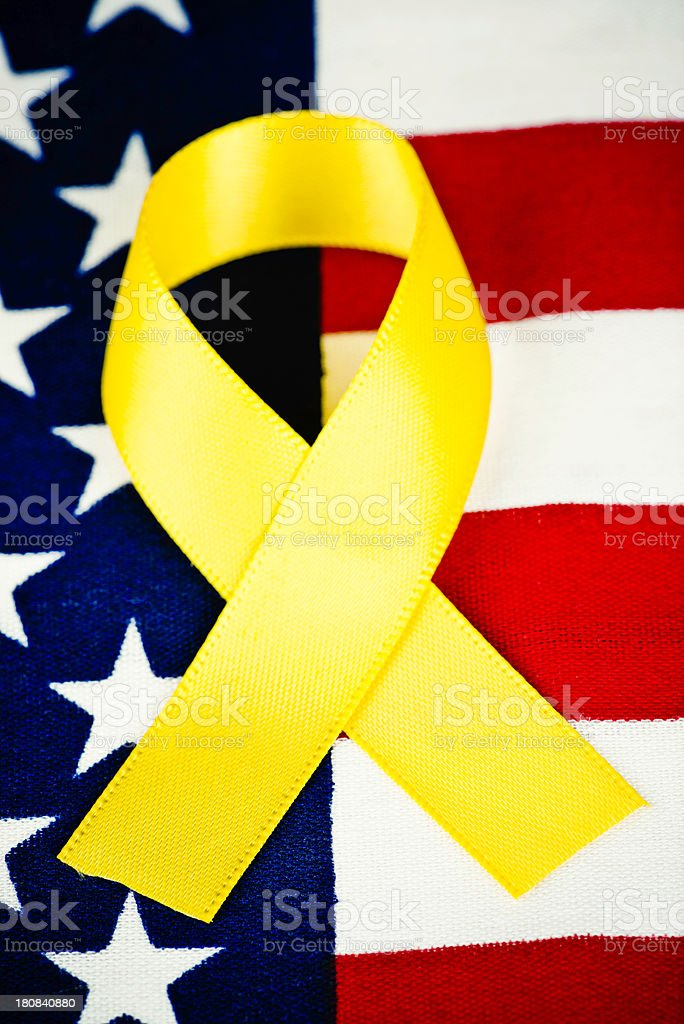 Remembering Deployed American Military Troops royalty-free stock photo
