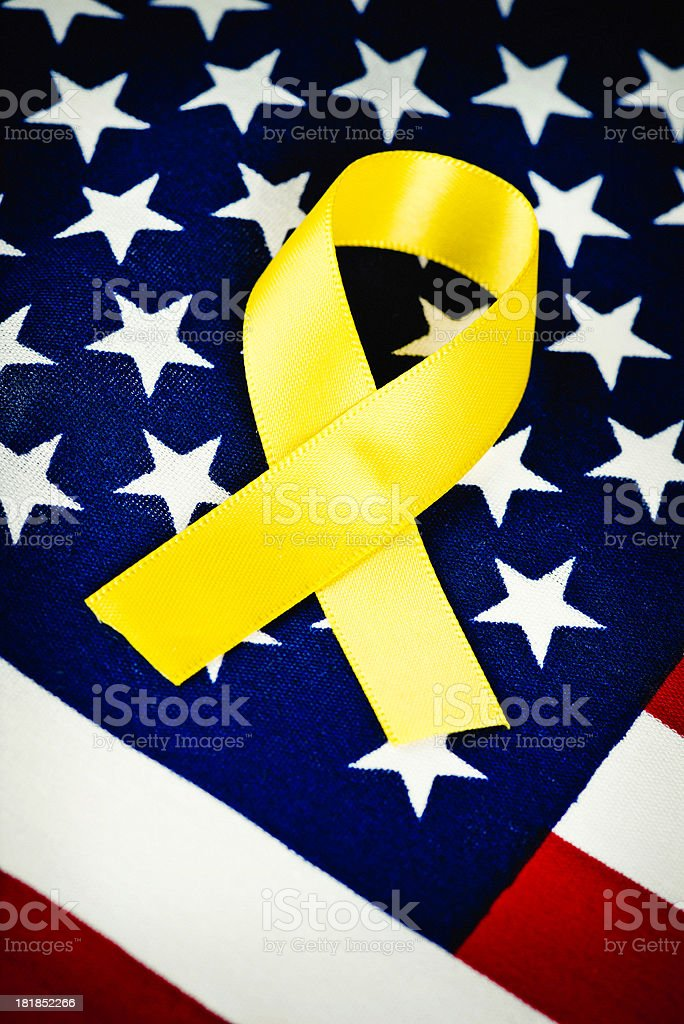 Remembering Deployed American Military Troops stock photo