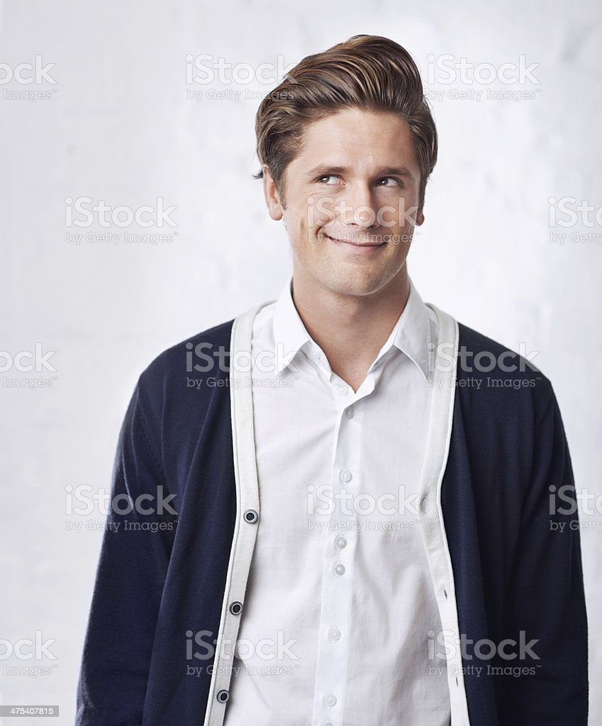 Remembering how awesome last night was... stock photo