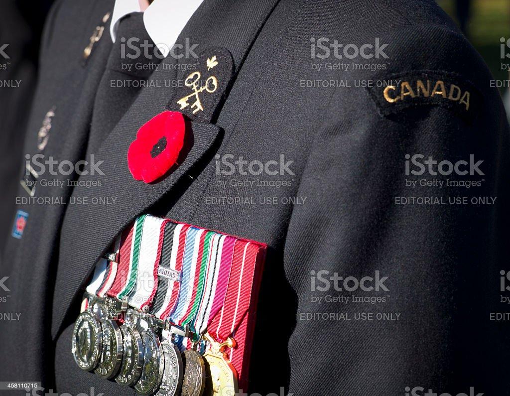 Remembrance Day Ceremony, Dartmouth Nova Scotia, Canada. stock photo