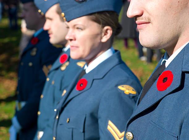 Remembrance Day Ceremony, Dartmouth Nova Scotia, Canada stock photo